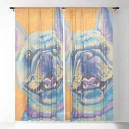 French Bulldog (includes rescue donation!) Sheer Curtain