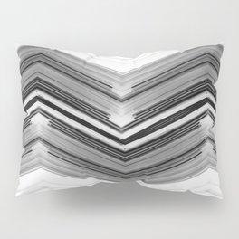 Geometric Wave - Black and White Minimal Geometric Art Pillow Sham