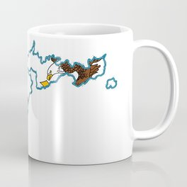 American Samoa Map with Samoan Flag Coffee Mug