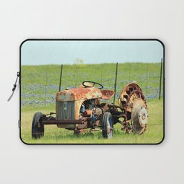 Old Tractor & Bluebonnets Laptop Sleeve
