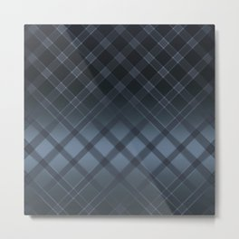 Dark gray pattern in the forward cage on satin grey background . Metal Print