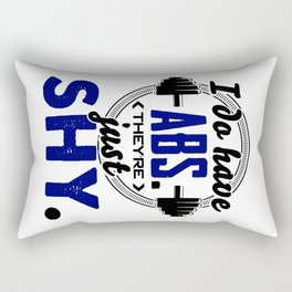 Shy Abs Fitness Workout Gym Training Design Rectangular Pillow