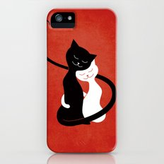 White And Black Cats In Love (red) iPhone (5, 5s) Slim Case