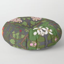 Winter Flowers Floor Pillow
