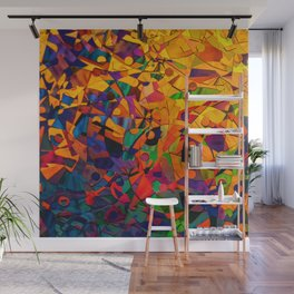 Abstract Golds Wall Mural