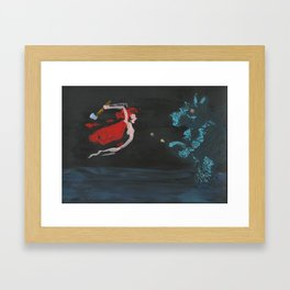 Little Red Riding Hood is Sick of Your S*** Framed Art Print