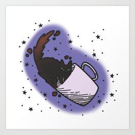 Tortie Tea Art Print
