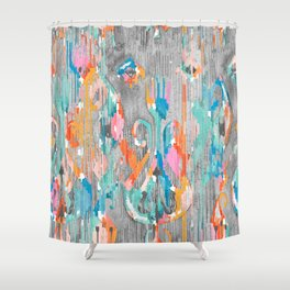 Rainy Day Balinese Ikat Shower Curtain