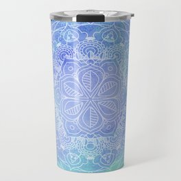 Blue Mandala Pattern Zen Painting Travel Mug