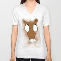 donkey kong V-neck T-shirts featuring Donkey by Frances Roughton