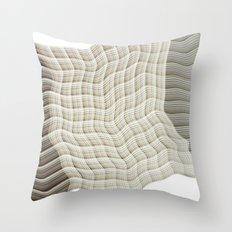 Wicker waves Throw Pillow