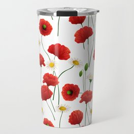 Poppies and daisies Travel Mug