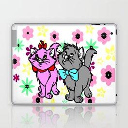 The happy cute couple cats Laptop & iPad Skin