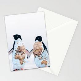 Travel Penguins Stationery Cards