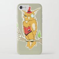 steam punk iPhone & iPod Cases featuring Steam Punk Owl by J&C Creations