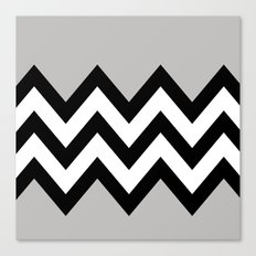 GRAY COLORBLOCK CHEVRON Canvas Print