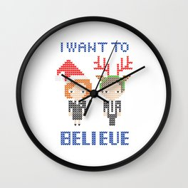 I Want To Believe: Christmas Edition Wall Clock