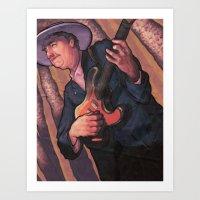 bob dylan Art Prints featuring Bob Dylan by Jacob Sanders