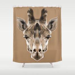 Giraffe Sym Shower Curtain