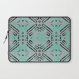 Distressed Aqua Tribal Stamp Laptop Sleeve