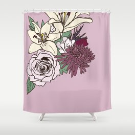 Flowers From The Universe Shower Curtain