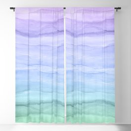 Layers Blue Ombre - Watercolor Abstract Blackout Curtain