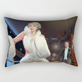 She and He on the boat of love Rectangular Pillow