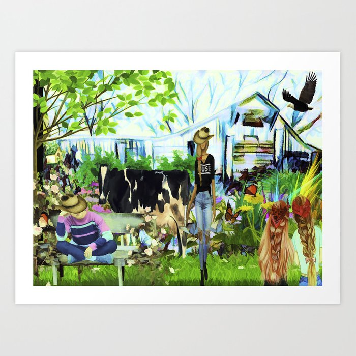 Wendy's Farm In Tennessee Art Print