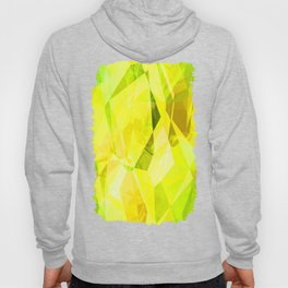 Pale Yellow Poinsettia 1 Abstract Polygons 1 Hoody