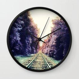 train TRACKS : Fond Dreams Wall Clock