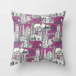 Seattle indigo crush Throw Pillow