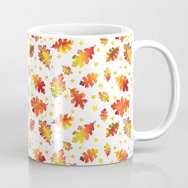 Autumn Nights Leaf and Star Pattern Coffee Mug
