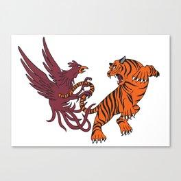 Cocks vs Tigers Canvas Print
