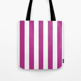 Fandango violet - solid color - white vertical lines pattern Tote Bag