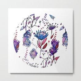 Protea Flower Lilac #homedecor Metal Print