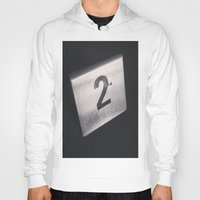 number Hoodies featuring Number 2 Table Number by Redhedge Photos