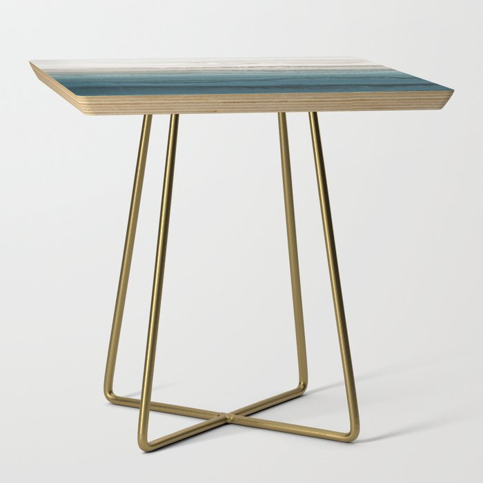 WITHIN THE TIDES - CRASHING WAVES TEAL Side Table