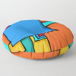 Cargo Ship Containers 11 Floor Pillow