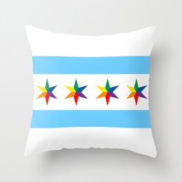 Chicago Pride Flag Throw Pillow