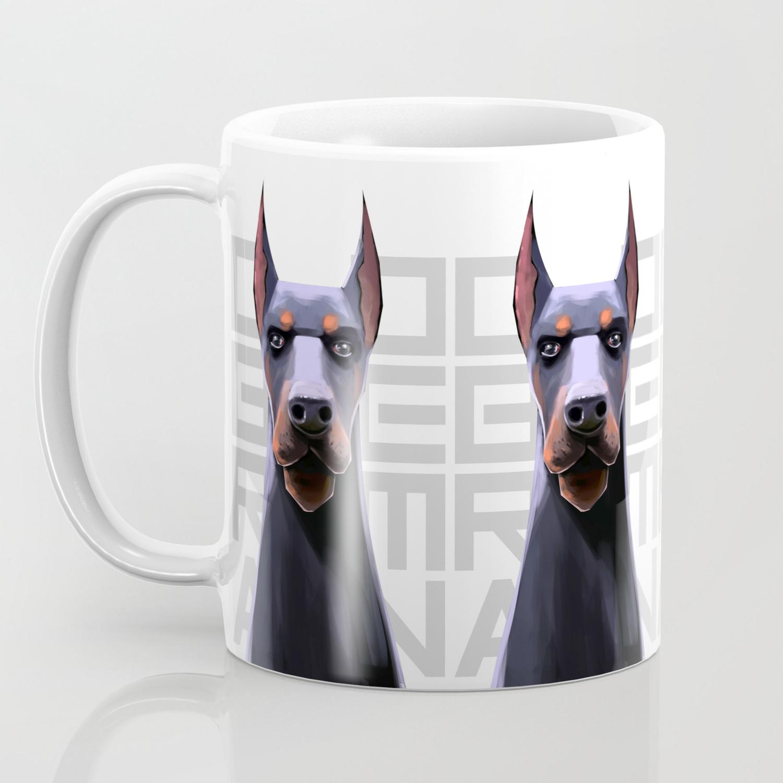 Doberman Coffee Mug By Karakalemustadi Society6