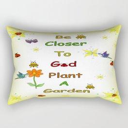 Plant A Garden Yellow Rectangular Pillow