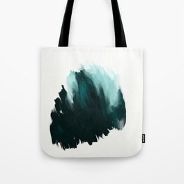 Our trip to the Oregon coast - an aqua blue abstract painting by JulesTillman Tote Bag