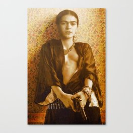 Frida Gun Canvas Print