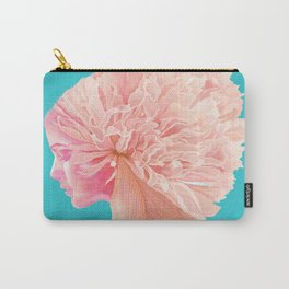 Pretty Woman with Flowers Carry-All Pouch