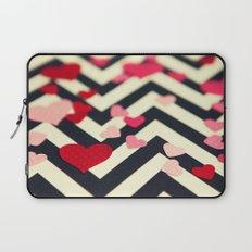 Chevron and Hearts Laptop Sleeve