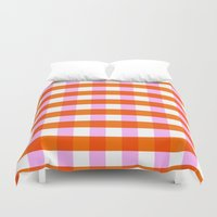 allyson johnson Duvet Covers featuring Allyson by Anh-Valérie