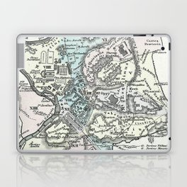 Vintage Map of Rome Italy (1862) Laptop & iPad Skin