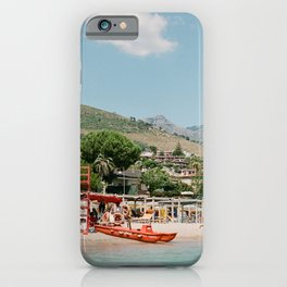 Italian Beach on the Coast by the Mountains iPhone Case