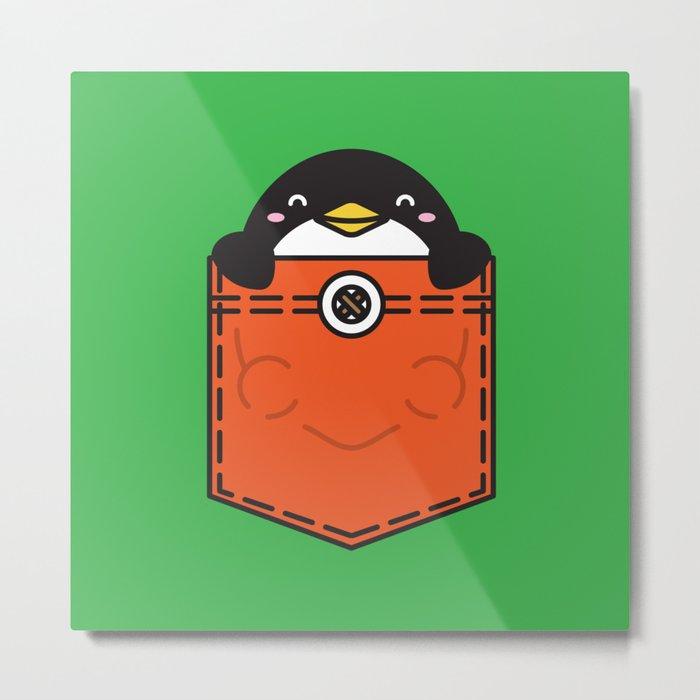 Pocket Penguin Metal Print
