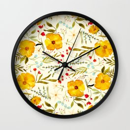 SUNSHINE FLORAL Wall Clock